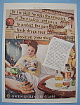 Click here to enlarge image and see more about item 12784: Vintage Ad: 1942 Owens Illinois Glass