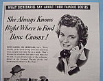 Vintage Ad: 1940 G. E. Clocks w/Bing Crosby's Secretary