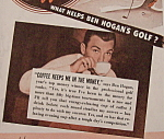 Click to view larger image of Vintage Ad: 1942 Coffee w/Ben Hogan & Claudette Colbert (Image1)