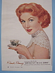 Click to view larger image of Vintage Ad: 1956 Lustre-Creme Shampoo w/Rhonda Fleming (Image1)