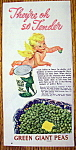 Click to view larger image of Vintage Ad: 1948 Green Giant Peas (Image1)