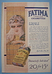 1913 Fatima Turkish Cigarettes with Woman Wearing Veil
