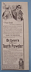 Vintage Ad: 1914 Dr. Lyon's Perfect Tooth Powder