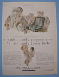 Click here to enlarge image and see more about item 12897: Vintage Ad: 1927 1847 Rogers Bros. Silverplate