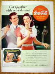 1941 Coca Cola (Coke) with Man & Woman Holding Glasses