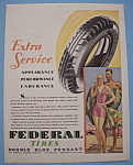 Click here to enlarge image and see more about item 12902: Vintage Ad: 1929 Federal Tires
