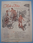 1929 Ride A Bike with 3 Children Riding Bicycles