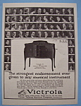 Click to view larger image of Vintage Ad: 1923 Victrola w/ Mengelberg, Toscanini (Image1)