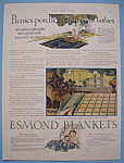 Click here to enlarge image and see more about item 12932: Vintage Ad: 1927 Esmond Blankets