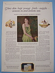 Click to view larger image of Vintage Ad: 1923 Pond's Cold Cream (Image1)