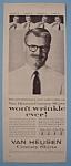 Click to view larger image of Vintage Ad: 1955 Van Heusen Shirts w/Bert Parks (Image1)
