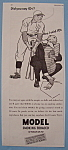 Click here to enlarge image and see more about item 12968: Vintage Ad: 1934 Model Smoking Tobacco