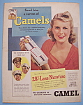 1942 Camel Cigarettes w/Lovely Woman Holding Cigarettes