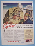 Click here to enlarge image and see more about item 12983: Vintage Ad: 1943 Purina Mills