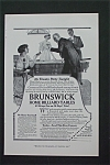 1916 Brunswick Home Billiard Table with People by Table