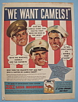 Click here to enlarge image and see more about item 13000: Vintage Ad: 1941 Camel Cigarettes
