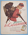 Vintage Ad:1941 Chesterfield Cigarettes w/ M. Woodworth
