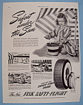 Click here to enlarge image and see more about item 13002: Vintage Ad: 1941 Fisk Safti-Flight Tires