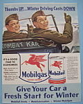 Click here to enlarge image and see more about item 13003: Vintage Ad: 1941 Mobilgas Mobiloil