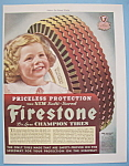 Click here to enlarge image and see more about item 13007: Vintage Ad: 1941 Firestone Tires