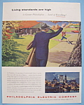 Click here to enlarge image and see more about item 13008: Vintage Ad: 1955 Philadelphia Electric Company