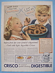 1938 Crisco Shortening with Boy Holding Doughnuts