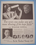 Vintage Ad: 1931 Lux Toilet Soap with Wiiliam Powell
