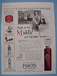 Vintage Ad: 1928 Vivaudou Mavis Talcum