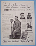 Click here to enlarge image and see more about item 13046: Vintage Ad: 1930 Chase & Sanborn Coffee w/Nils Asther