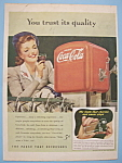 1941 Coca-Cola (Coke) With Woman & Glass Of Soda
