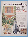 Vintage Ad: 1932 Myers Water System