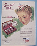 Click here to enlarge image and see more about item 13060: Vintage Ad: 1940 Rogers Silverplate