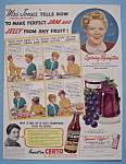 Vintage Ad: 1939 Certo with Spring Byington
