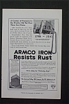 1916 Armco Iron with Armco Iron Resists Rust