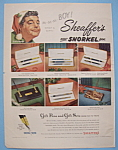 Click to view larger image of Vintage Ad: 1953 Sheaffer Pens w/ Jackie Gleason (Image1)