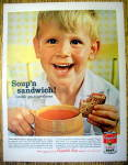 Click to view larger image of Vintage Ad: 1962 Campbell Tomato Soup (Image1)