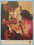 1961 Pepsi-Cola (Pepsi) with Man & Woman Enjoying Pepsi