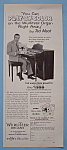 Click to view larger image of Vintage Ad: 1955 Wurlitzer Organ with Ted Mack (Image1)