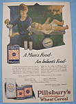 Click here to enlarge image and see more about item 13132: Vintage Ad: 1920 Pillsbury's Wheat Cereal