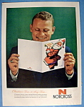 1958 Norcross Christmas Cards with Man Reading Card