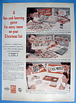 Click to view larger image of Vintage Ad: 1959 Milton Bradley Board Games (Image1)