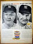 Click here to enlarge image and see more about item 13199: Vintage Ad: 1959 Skippy Peanut Butter w/Casey Stengel
