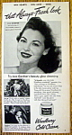 Click to view larger image of Vintage Ad: 1948 Woodbury Cold Cream w/ Ava Gardner (Image1)