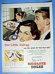 1952 Neolite Soles with Girl Cutting Paper