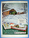 Click here to enlarge image and see more about item 13256: Vintage Ad: 1953 Chesterfield Cigarettes