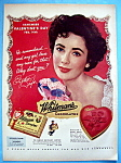 1953 Whitman Sampler Candy with Elizabeth Taylor