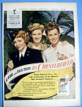 Vintage Ad: 1943 Chesterfield with Colbert, Lake & More
