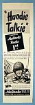 Vintage Ad: 1944 Motorola Handie Talkie
