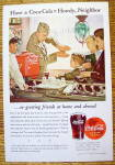 1944 Coca Cola (Coke) with a Soldier Talking to a Boy