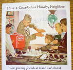 Click to view larger image of 1944 Coca Cola (Coke) with a Soldier Talking to a Boy (Image3)